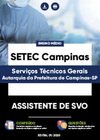 Assistente de SVO - SETEC Campinas