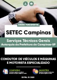 Condutor de Veículos e Máquinas e Motorista Especializado - SETEC Campinas