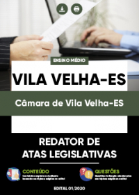 Redator de Atas Legislativas - Câmara de Vila Velha-ES