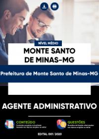 Agente Administrativo - Prefeitura de Monte Santo de Minas-MG