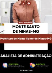 Analista de Administração - Prefeitura de Monte Santo de Minas-MG