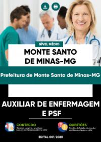 Auxiliar de Enfermagem e PSF - Prefeitura de Monte Santo de Minas-MG