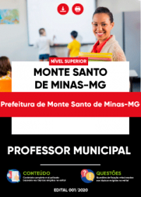 Professor Municipal - Prefeitura de Monte Santo de Minas-MG