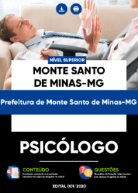 Psicólogo - Prefeitura de Monte Santo de Minas-MG