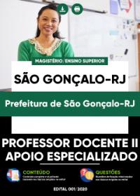 Professor Docente II - Apoio Especializado - Prefeitura de São Gonçalo-RJ