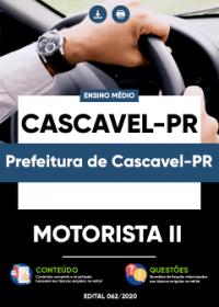 Motorista II - Prefeitura de Cascavel-PR
