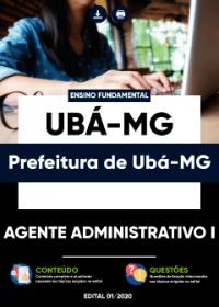 Agente Administrativo I - Prefeitura de Ubá - MG
