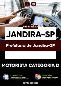 Motorista Categoria D - Prefeitura de Jandira-SP