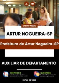 Auxiliar de Departamento - Prefeitura de Artur Nogueira-SP