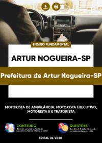 Motorista de Ambulância e outros - Prefeitura de Artur Nogueira-SP
