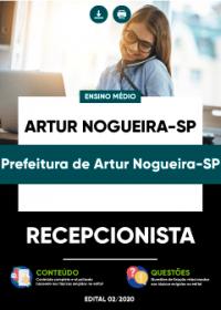 Recepcionista - Prefeitura de Artur Nogueira-SP