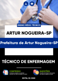 Técnico de Enfermagem - Prefeitura de Artur Nogueira-SP