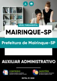 Auxiliar Administrativo - Prefeitura de Mairinque-SP