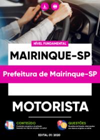 Motorista - Prefeitura de Mairinque-SP