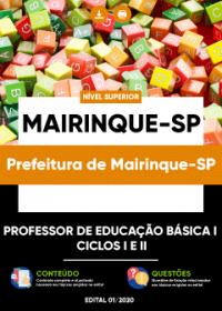 Professor de Educação Básica I - Ciclos I e II - Prefeitura de Mairinque-SP