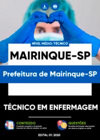 Técnico em Enfermagem - Prefeitura de Mairinque-SP
