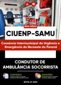 Condutor de Ambulância Socorrista - CIUENP - SAMU