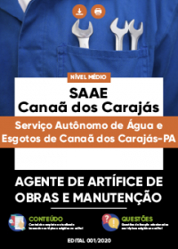 Agente de Artífice de Obras e Manutenção - SAAE de Canaã dos Carajás