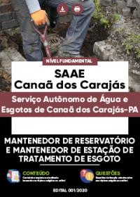Mantenedor de Reservatório - SAAE de Canaã dos Carajás