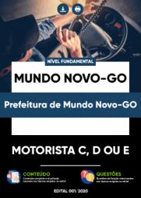 Motorista C, D ou E - Prefeitura de Mundo Novo-GO