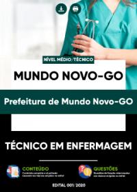 Técnico em Enfermagem - Prefeitura de Mundo Novo-GO