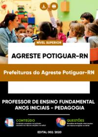 Prof. Ensino Fundamental-Anos Iniciais-Pedagogia - Pref. do Agreste Potiguar-RN