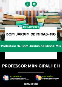 Professor Municipal I e II - Prefeitura de Bom Jardim de Minas-MG