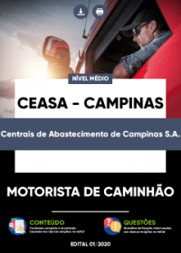 Motorista de Caminhão - CEASA - CAMPINAS