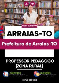 Professor Pedagogo (Zona Rural) - Prefeitura de Arraias-TO