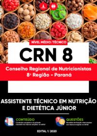 Assistente Técnico em Nutrição e Dietética Júnior - CRN 8