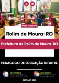 Pedagogo de Educação Infantil - Prefeitura de Rolim de Moura-RO