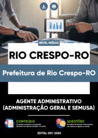Agente Administrativo - Prefeitura de Rio Crespo-RO