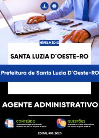 Agente Administrativo - Prefeitura de Santa Luzia D´Oeste-RO