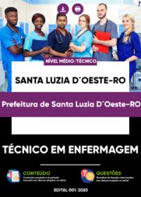 Técnico em Enfermagem - Prefeitura de Santa Luzia D´Oeste-RO