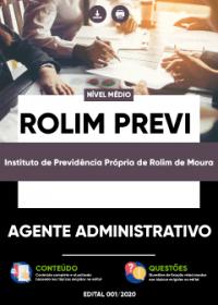 Agente Administrativo - ROLIM PREVI