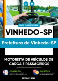 Motorista de Veículos de Carga e Passageiro - Prefeitura de Vinhedo-SP