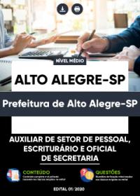 Auxiliar de Setor de Pessoal e outros - Prefeitura de Alto Alegre-SP
