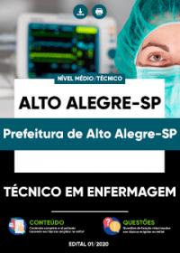 Técnico em Enfermagem - Prefeitura de Alto Alegre-SP