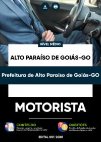 Motorista - Prefeitura de Alto Paraíso de Goiás-GO