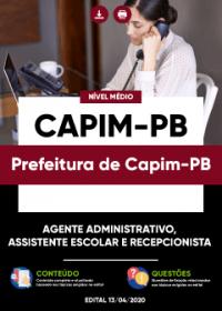Agente Administrativo e outros - Prefeitura de Capim-PB