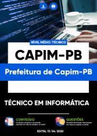Técnico em Informática - Prefeitura de Capim-PB