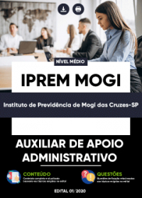 Auxiliar de Apoio Administrativo - IPREM Mogi