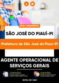 Agente Operacional de Serviços Gerais - Prefeitura de São José do Piauí-PI