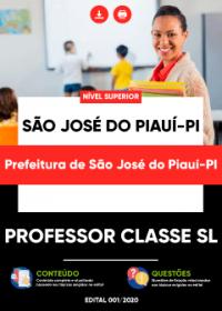 Professor Classe SL - Prefeitura de São José do Piauí-PI