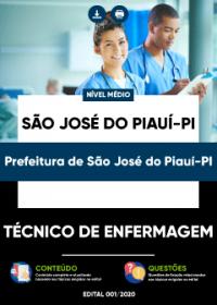 Técnico de Enfermagem - Prefeitura de São José do Piauí-PI
