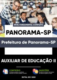 Auxiliar de Educação II - Prefeitura de Panorama-SP