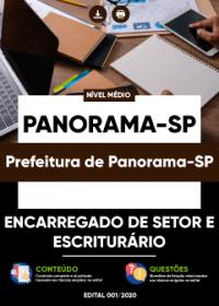Encarregado de Setor e Escriturário - Prefeitura de Panorama-SP