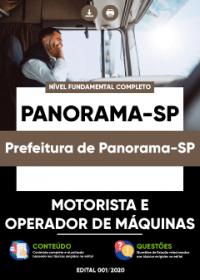 Motorista e Operador de Máquinas - Prefeitura de Panorama-SP