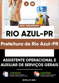 Assistente Operacional e Auxiliar de Serviços Gerais - Prefeitura de Rio Azul-PR