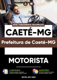 Motorista - Prefeitura de Caeté-MG